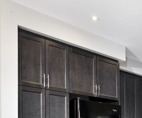 add bulkhead to kitchen cabinets with filler strip. Black Bedroom Furniture Sets. Home Design Ideas